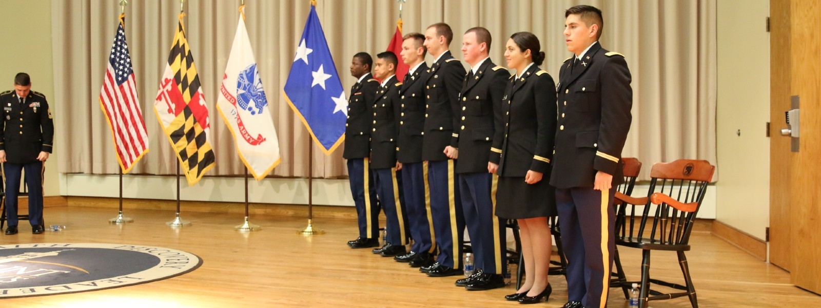 Military Science / ROTC cadet commissioning at Mount St. Mary's University