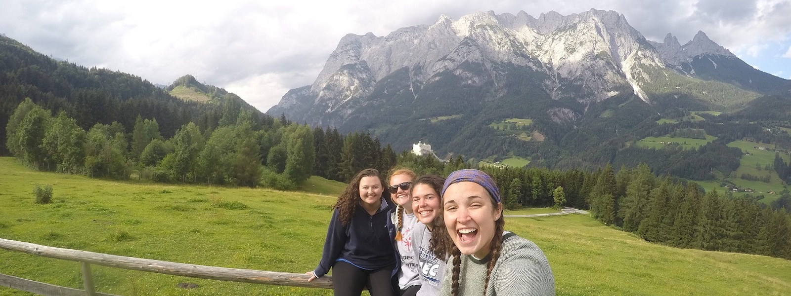 Mount St. Mary's students on a study abroad trip to Salzburg, Austria.